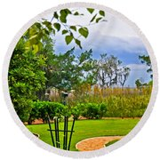 Path To Marshes Round Beach Towel
