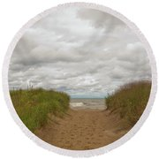 Path To The Beach 12058 Round Beach Towel