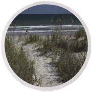 Path To The Beach Round Beach Towel