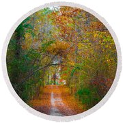 Path To The Fairies Round Beach Towel by Parker Cunningham