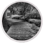 Path To The Forest Round Beach Towel