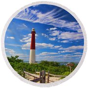 Path To The Light Round Beach Towel
