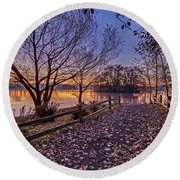 Path To The Serene Round Beach Towel