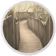 Pathway Round Beach Towel by Melissa Petrey