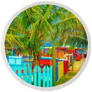 Pathway To Rum Round Beach Towel