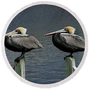 Patient Pair Round Beach Towel