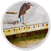 Patiently Pensive Round Beach Towel