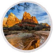 Patriarchs Of Zion Round Beach Towel by Chad Dutson