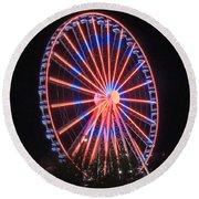 Patriotic Ferris Wheel Round Beach Towel