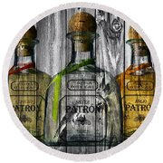 Patron Barn Door Round Beach Towel