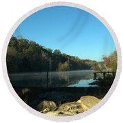 Patsiliga Creek Lake Round Beach Towel