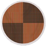 Pattern 9 Spots Round Beach Towel