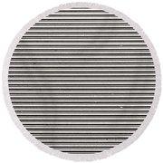Pattern - Corrugated Metal Round Beach Towel