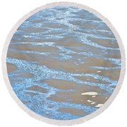Pattern In Mud Flats At Low Tide In Kachemak Bay From Homer Spit-alaska Round Beach Towel