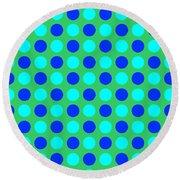Pattern Of Circles Round Beach Towel