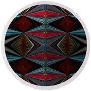 Patterned Abstract 2 Round Beach Towel
