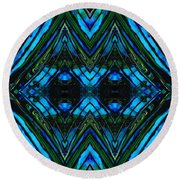 Patterned Art Prints - Cool Change - By Sharon Cummings Round Beach Towel