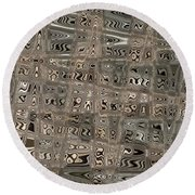 Patterned Ripples Round Beach Towel