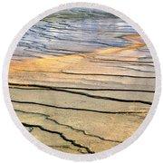 Patterns At Yellowstone #1 Round Beach Towel
