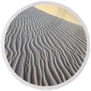 Patterns In The Sand Brazil Round Beach Towel
