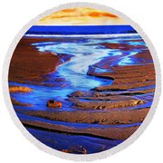 Patterns In The Sand Round Beach Towel
