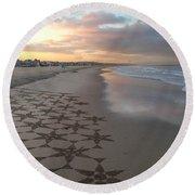 Patterns On Venice Beach Round Beach Towel
