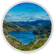 Patterson Lake In The Summer Round Beach Towel
