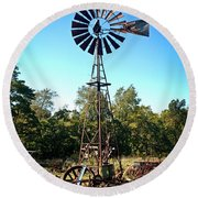 Patterson Windmill Round Beach Towel by Marty Koch