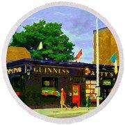 Patty's Pub Guinness On The Glebe Restaurant Bar Bank And Ossington Paintings Of Ottawa Art Cspandau Round Beach Towel