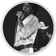 Paul And Boz 1977 Round Beach Towel