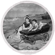 Paul And Florence Dombey Round Beach Towel