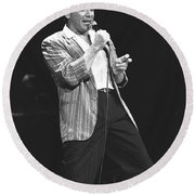 Paul Anka Round Beach Towel