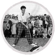 Paul Hahn Golf Stunt Shot Round Beach Towel