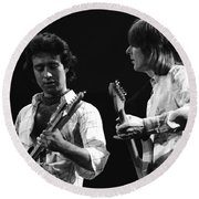 Paul And Mick In Spokane 1977 Round Beach Towel