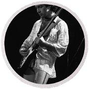 Paul On Guitar 1977 In Spokane Round Beach Towel