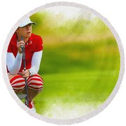 Paula Creamer - The Ricoh Women British Open Round Beach Towel