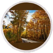 Paved With Gold Round Beach Towel