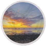 Pavilion Sunrise Round Beach Towel