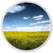 Pawnee Grasslands Round Beach Towel