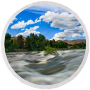 Payette River Round Beach Towel by Robert Bales