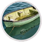 Pea-green Boat Round Beach Towel