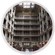 Peabody Library Baltimore Round Beach Towel