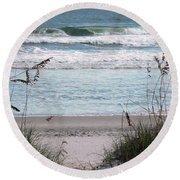 Peace At The Beach Round Beach Towel