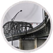Peace Bridge 00a  Round Beach Towel
