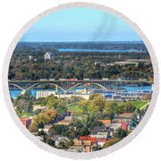 Peace Bridge Autumn 2013 Round Beach Towel