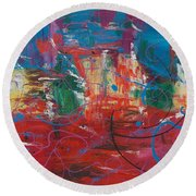 Peace In Chaos Round Beach Towel