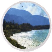 Peace In The Valley - Landscape Art Round Beach Towel