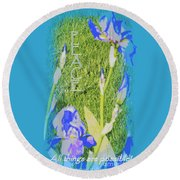 Peace Is Possible Round Beach Towel