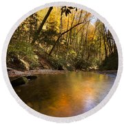 Peace Like A River Round Beach Towel