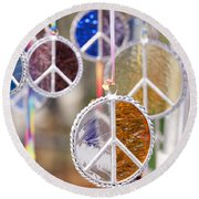 Peace Medals Round Beach Towel